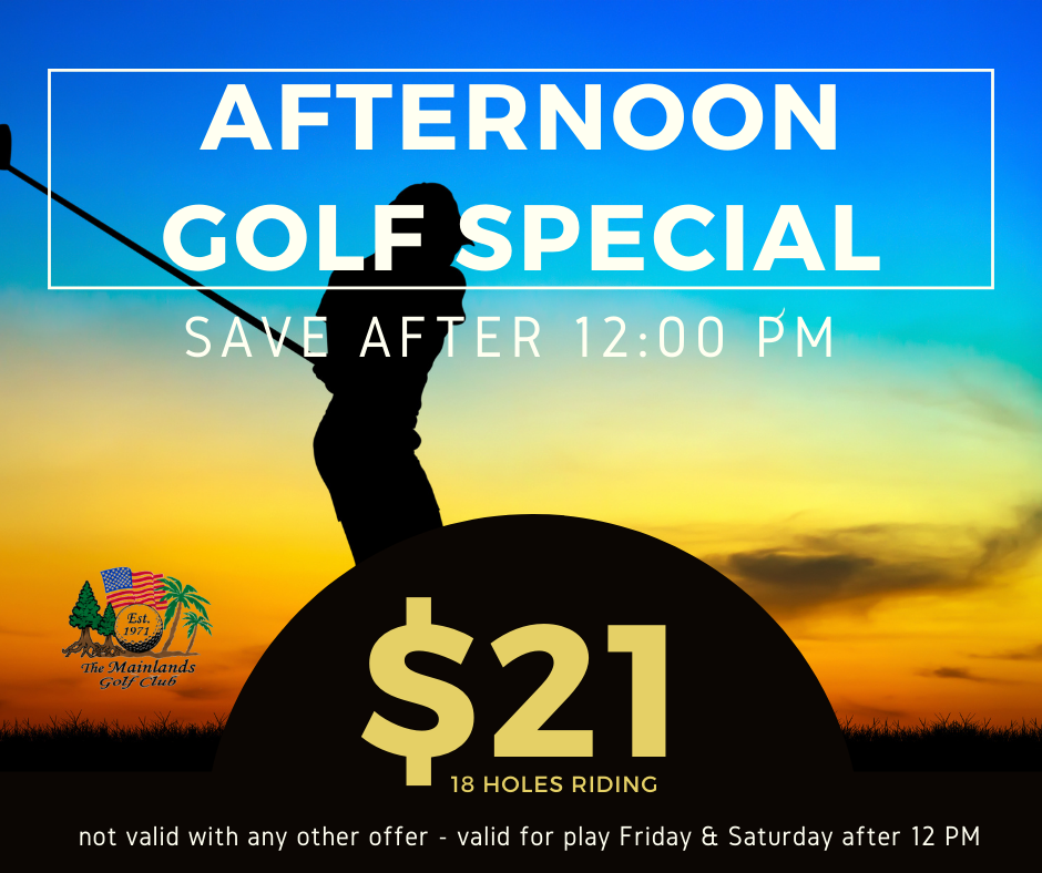 Weekend Golf Special 🏌️‍♂️ December 4th & 5th